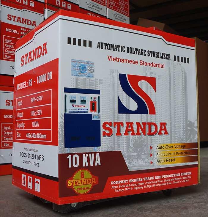 Dùng standa 10kva hàng chuẩn của Công ty không lo điện yếu