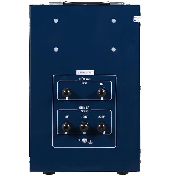 Ổn áp standa 10kva dải 150v-250v điện ra 100v; 220v