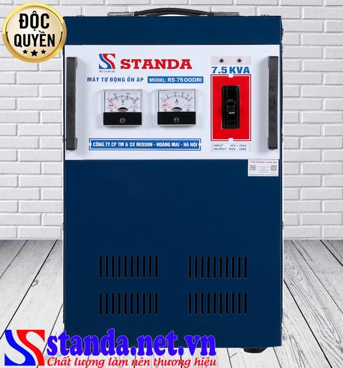 Ổn áp Standa 7.5kva dải 50V phù hợp cho mọi đối tượng