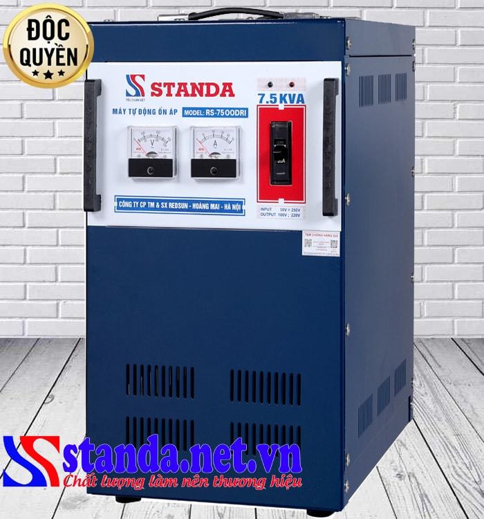 Đặc điểm của ổn áp Standa 7.5kva dải 50v – 250v