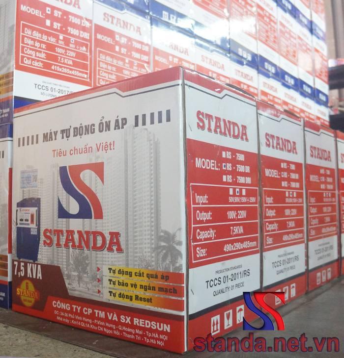 Bao bì Ổn áp Standa 7,5kva chính hãng dải 90v-250v 1 pha