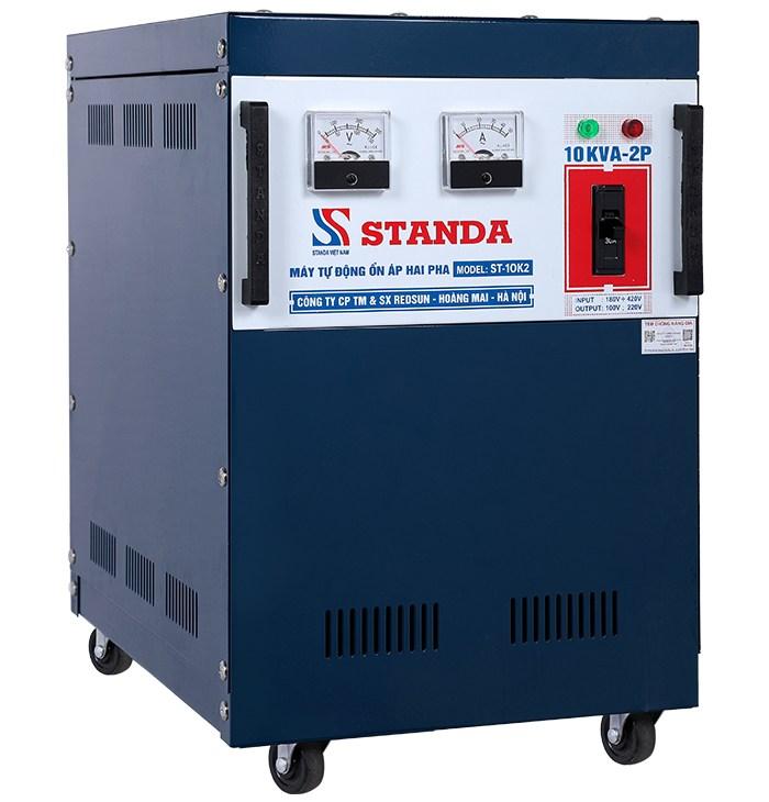 Ổn áp standa 10kva 2 pha lửa dùng cho nơi điện quá yếu