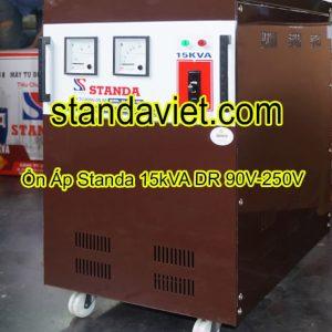 Ổn áp standa 15kVA DR dải 90V-250V chính hãng