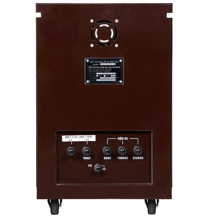Ổn áp standa 20kva 2 pha Input 180v-430v Output 220v; 100v dùng cho gia đình