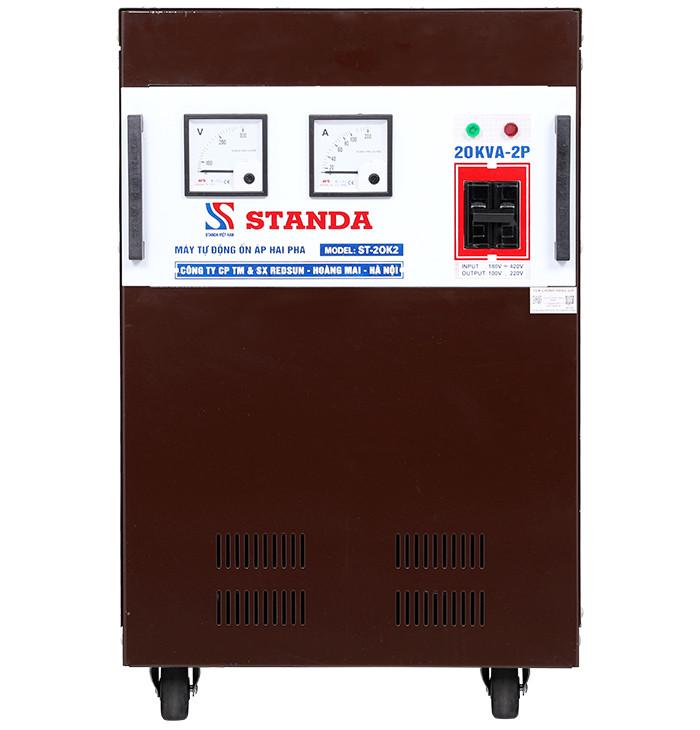 Ổn áp standa 20kva 2 pha Input 180v-430v Output 220v; 100v