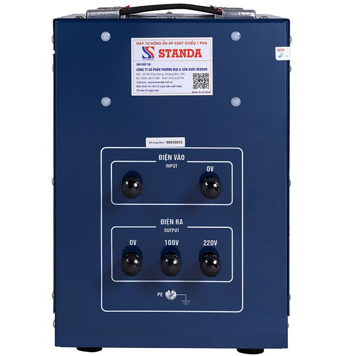 Ổn áp standa 3kva dải 50v-250v điện ra 100v; 220v