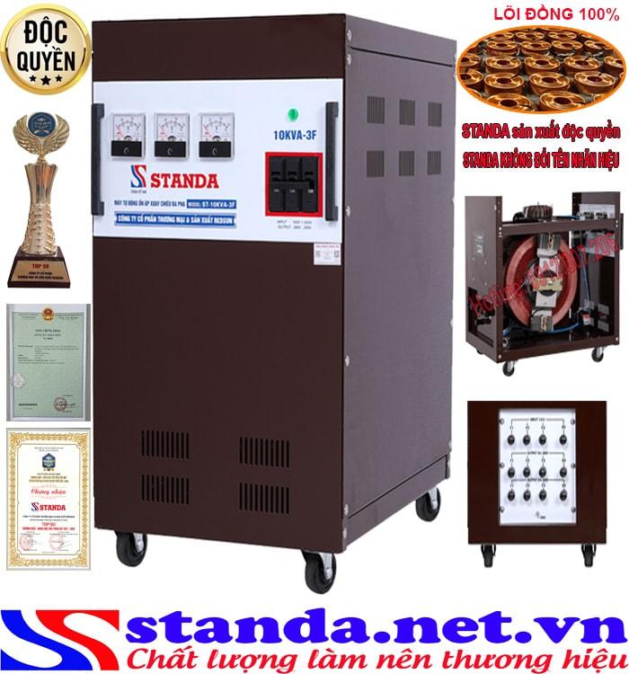 máy ổn áp 3 pha 10kva Standa điện áp (160V-430V)