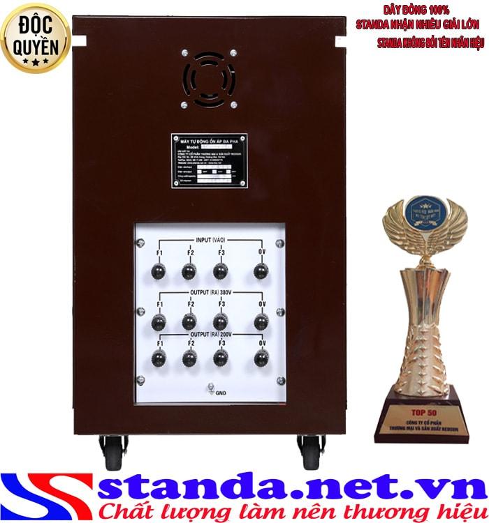 ổn áp 3 pha 10KVA dải điện áp 160V-430V