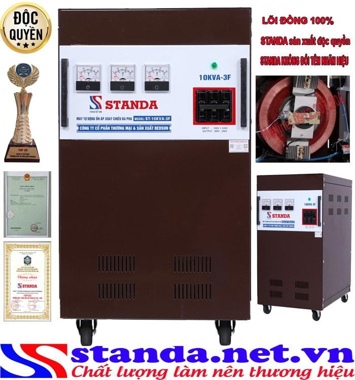 Ổn áp 3 pha 10kva Standa(260V-430V)