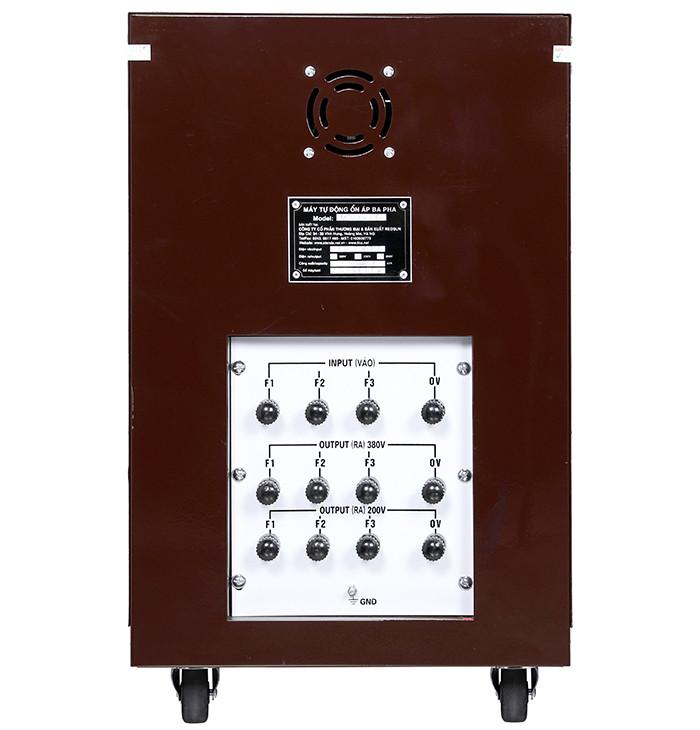 Ổn áp standa 10kva dải 160v-430v điện ra 380v; 200v 3 pha