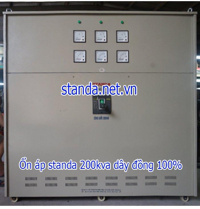 Standa 200kva 3F dải 260v-430v-điện ra 380v dây đồng 100%