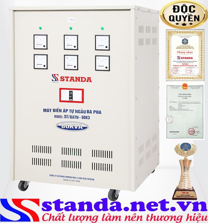 Tác dụng của biến áp 80kva hạ áp 380V sang 220V - 200V