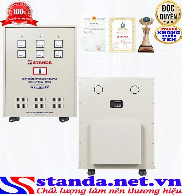 Tác dụng của biến áp cách ly 100kva 3 pha Standa
