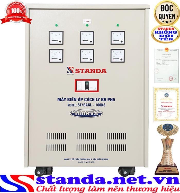 Biến áp cách ly 3 pha Standa 100Kva được đánh giá cao về chức năng