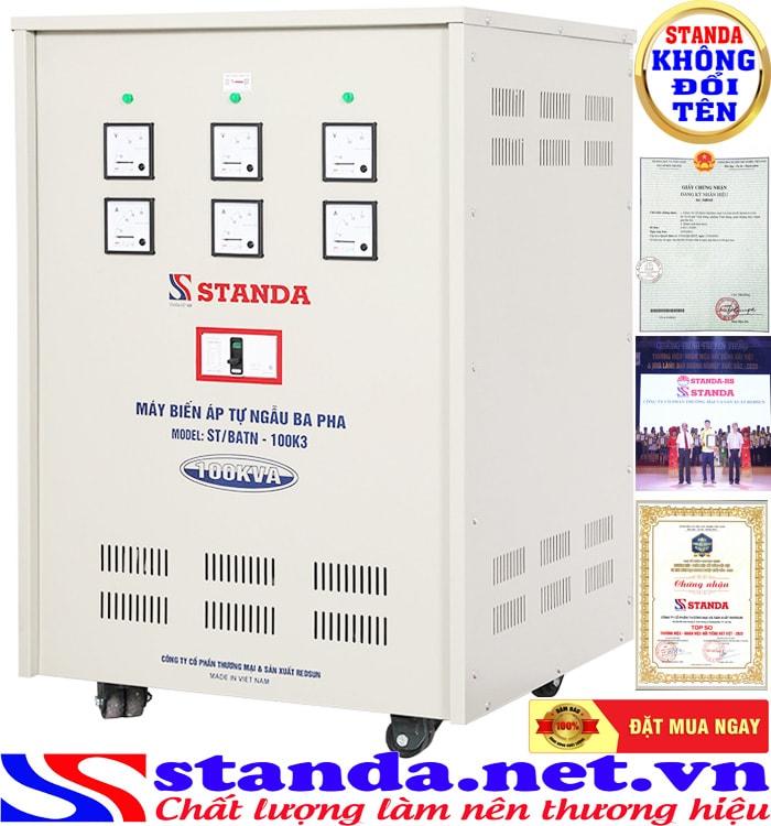 Biến áp tự ngẫu Standa 100kv được nhiều người sử dụng