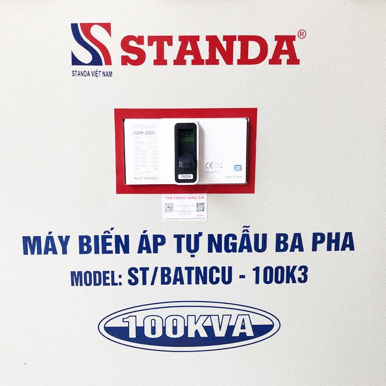 Biến áp hạ áp Standa 100kva chính hãng
