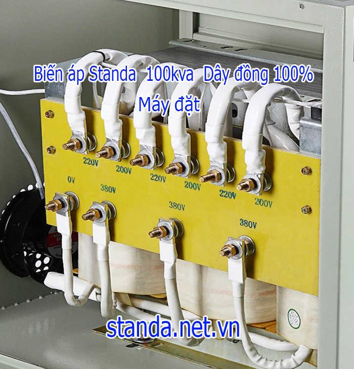 Biến áp 100kva cách ly standa chuẩn dây đồng 100%-Hàng đặt