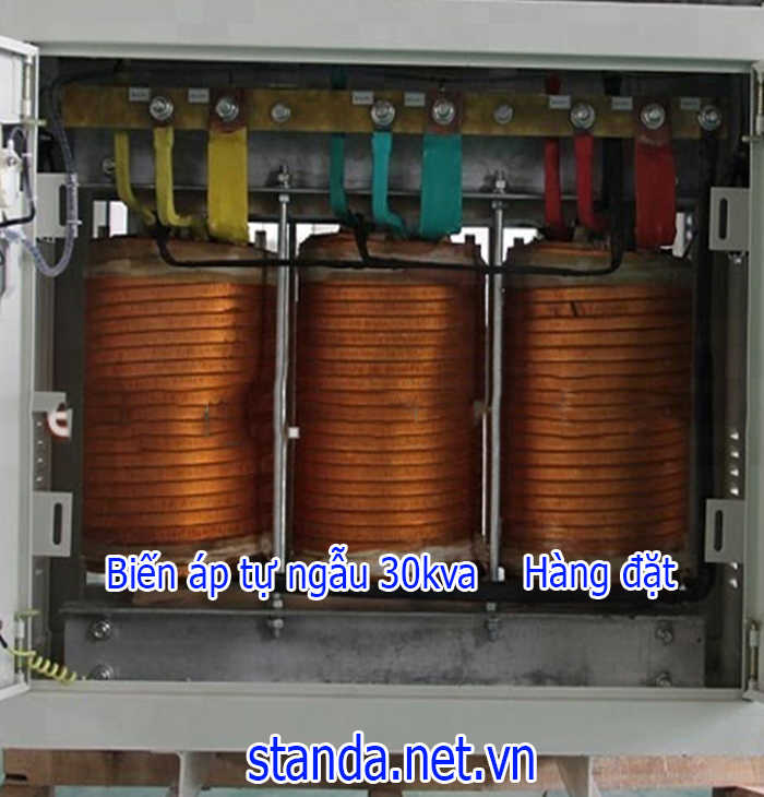 Biến áp 30kVA đổi nguồn 380v ra 220v; 200v 3 pha