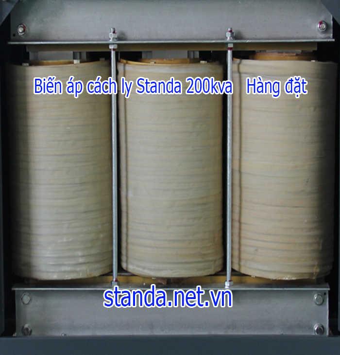 Biến áp 200kva cách ly standa dây đồng 100%-Hàng đặt