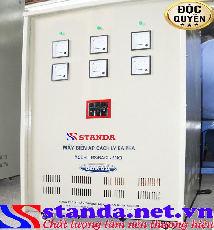 Biến áp cách ly 60kva thương hiệu Standa