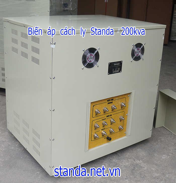 Biến áp cách ly standa 3 pha 200kva điện vào 380v điện ra 220v; 200v