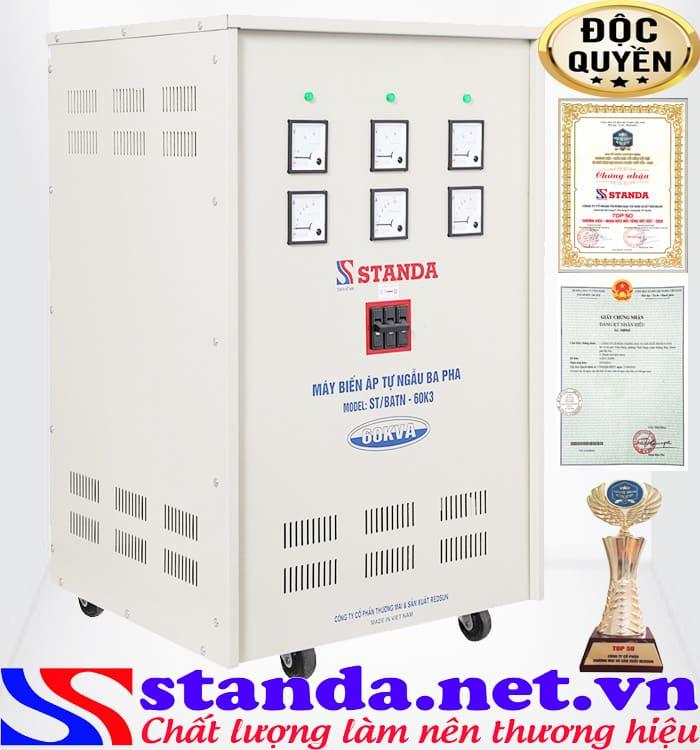 Đặc điểm của biến áp Standa 60kva hạ áp 380V sang 220V-200V