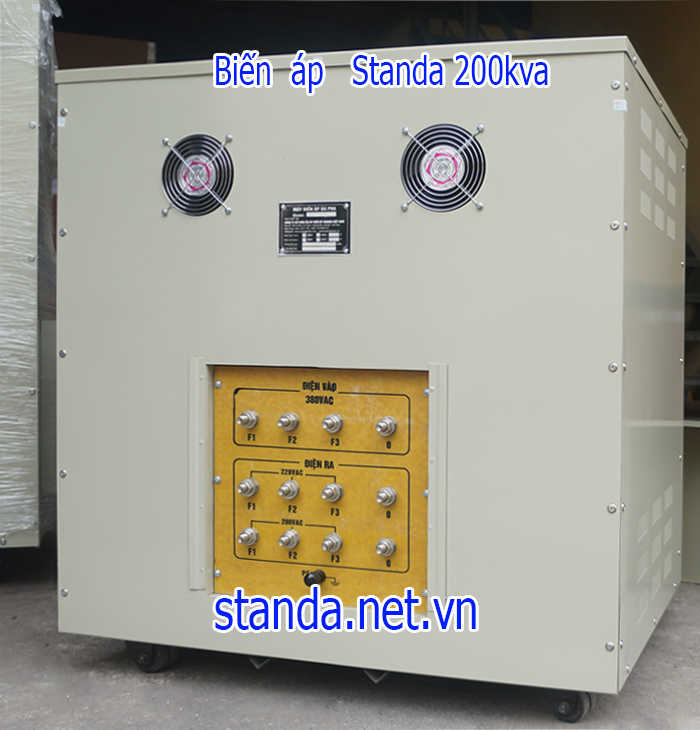 Biến áp standa 200kva 3 pha Input 380v Output 220v; 200v