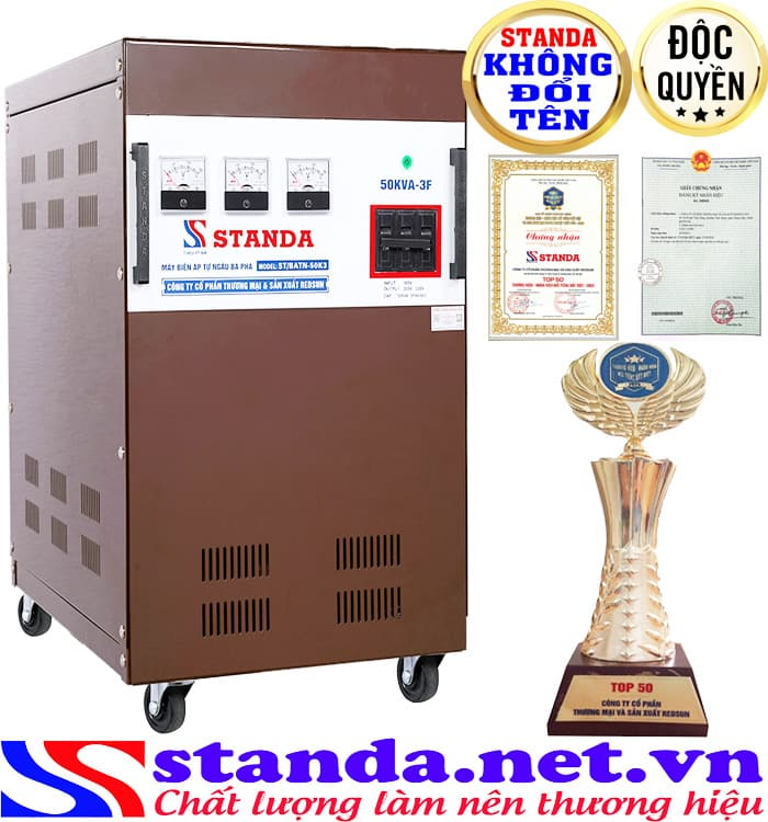 Máy biến áp tự ngẫu 50kva Standa có thiết kế hiện đại hợp xu hướng