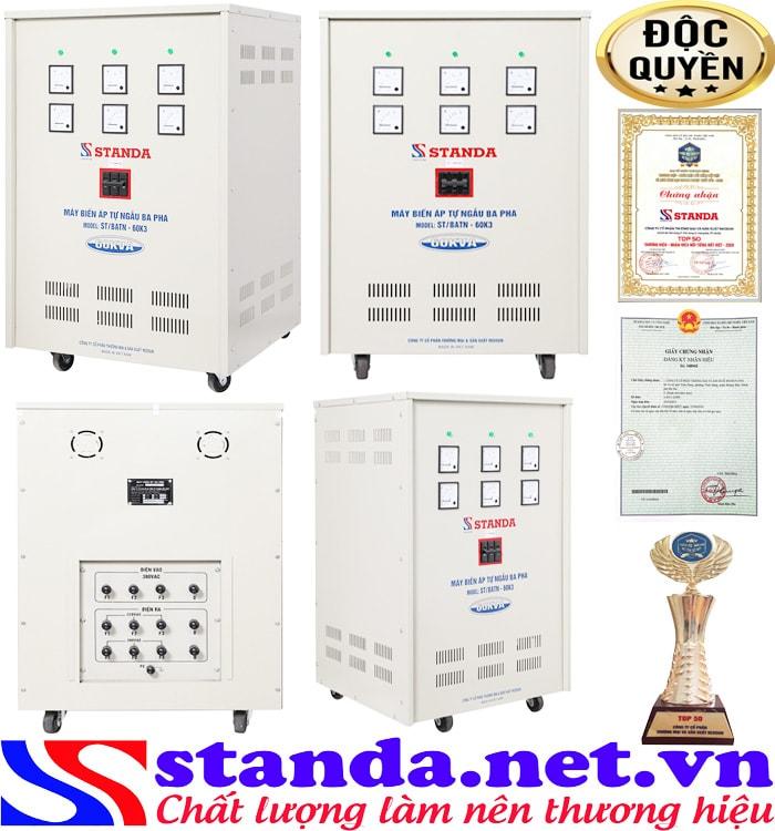 Biến áp Standa 60KVA có tác dụng hạ áp nguồn điện
