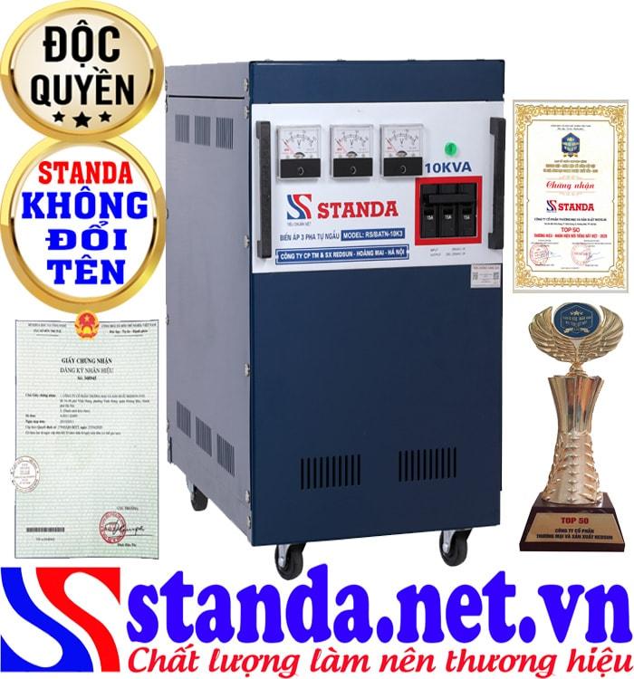 Tác dụng của biến áp tự ngẫu Standa 10kva chính hãng