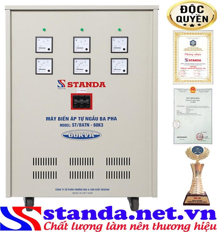 Đặc điểm của biến áp tự ngẫu 60KVA Standa
