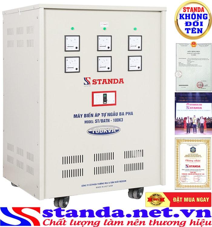 Lý do nên chọn biến áp 100kva chính hãng thương hiệu Standa