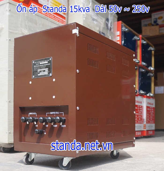 Ổn áp standa 15kva DRI dải 50v-250v