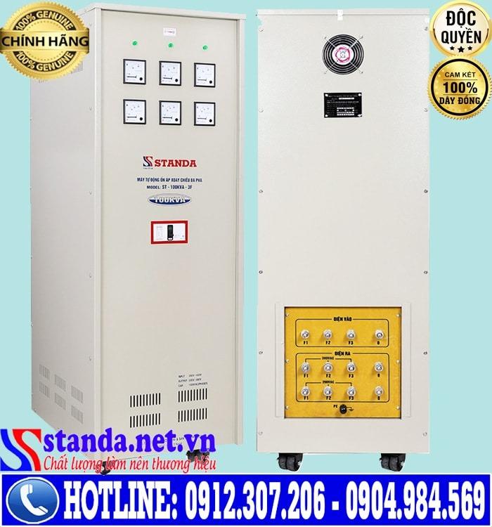 ổn áp standa 3 pha 100KVA dải điện áp 260V