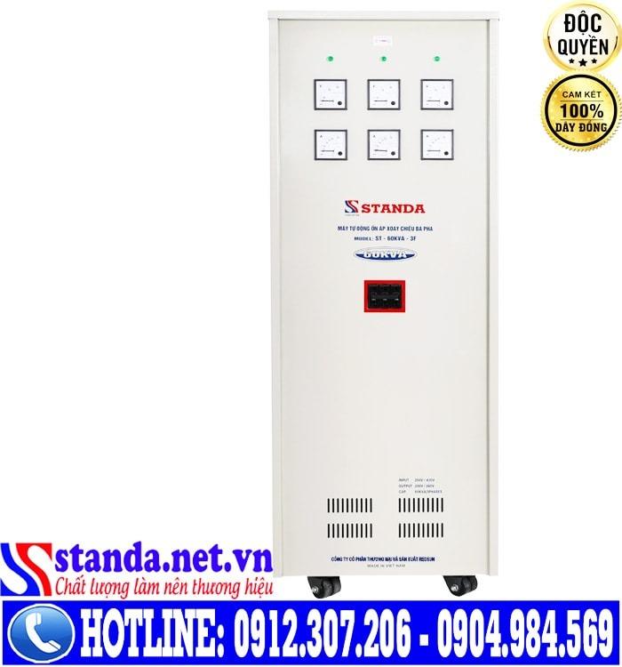 Thông số kỹ thuật của ổn áp 3 pha 60KVA Standa điện áp 260V-430V