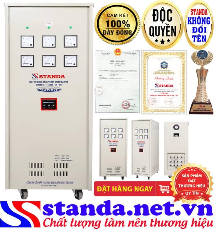 Ổn áp 3 pha 45kva standa điện áp 160V-430V