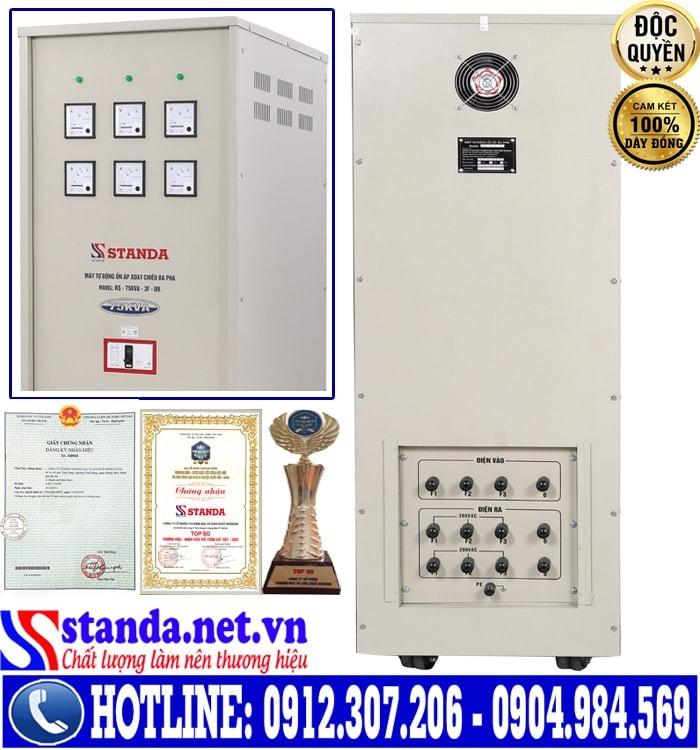 máy ổn áp STANDA 75KVA dải điện áp 160V-430V 3 pha