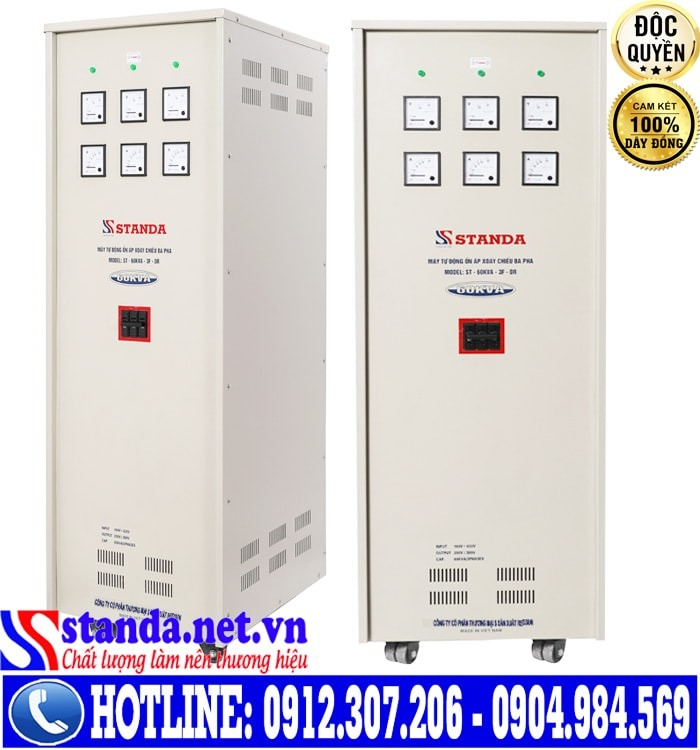 ổn áp standa 3 pha 60kva điện áp 160V-430V