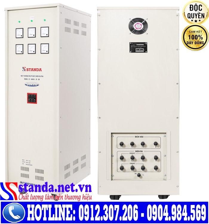 Điểm vượt trội của ổn áp Standa 60kVA dải điện 160V-430V