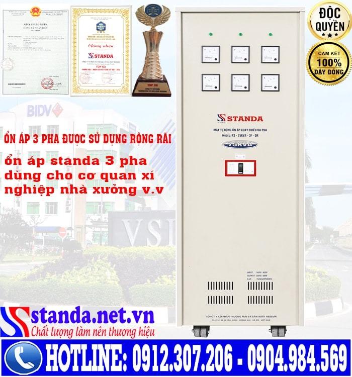 ổn áp 3 pha 75KVA STANDA điện áp 160V - 430V