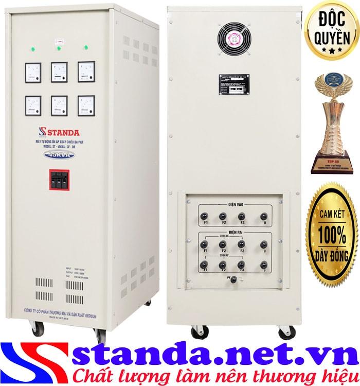 Khác biệt mang tính đột phá của ổn áp 3 pha Standa 45kVA dải 160V- 430V