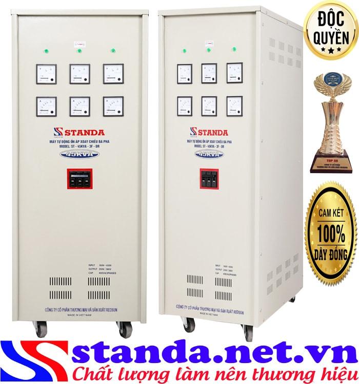 Thông số kỹ thuật của ổn áp 3 pha 45kva standa điện áp 160V-430V