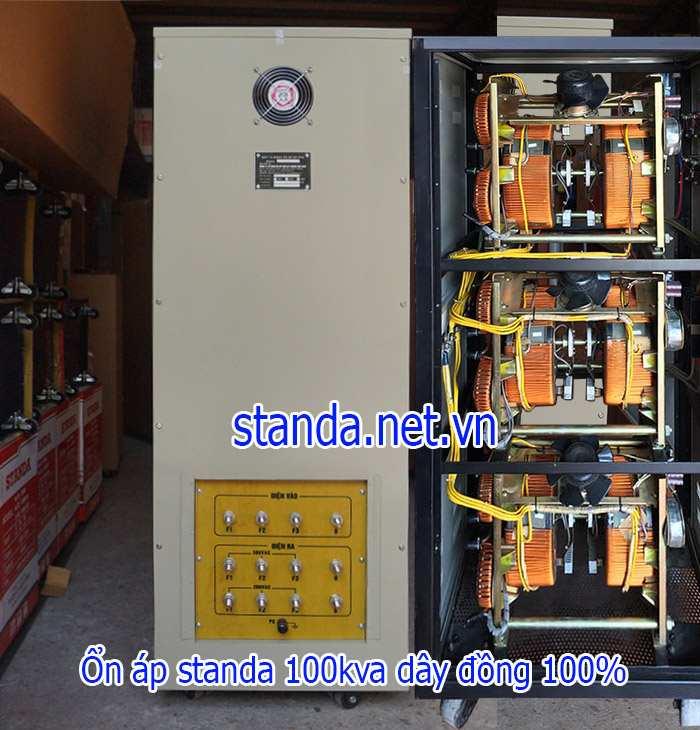 Ổn áp standa 100kva dải 260v-430v-Phía sau máy