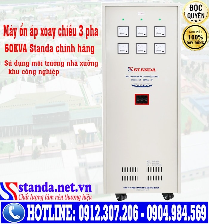 10 điểm cộng trong thiết kế của ổn áp Standa 60kVA dải 260V-430V