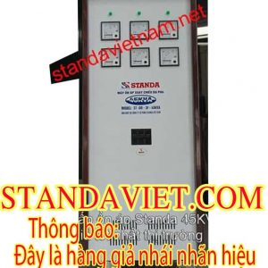 Ổn áp Standa 45kva hàng giả nhái do Công ty Cổ phần Standa Việt Nam sản xuất trái pháp luật