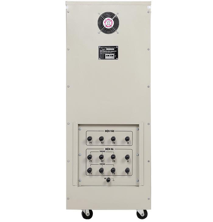 Ổn áp standa 45kva Input 160v-430v Output 380v; 200v