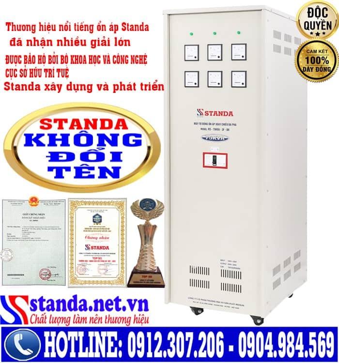 ổn áp 3 pha STANDA 75KVA dải điện áp 160V-430V