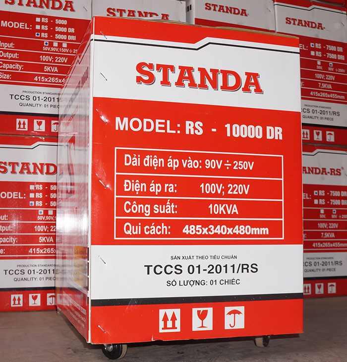 Ổn áp standa 10kva dải 90v-250v hàng chính hãng
