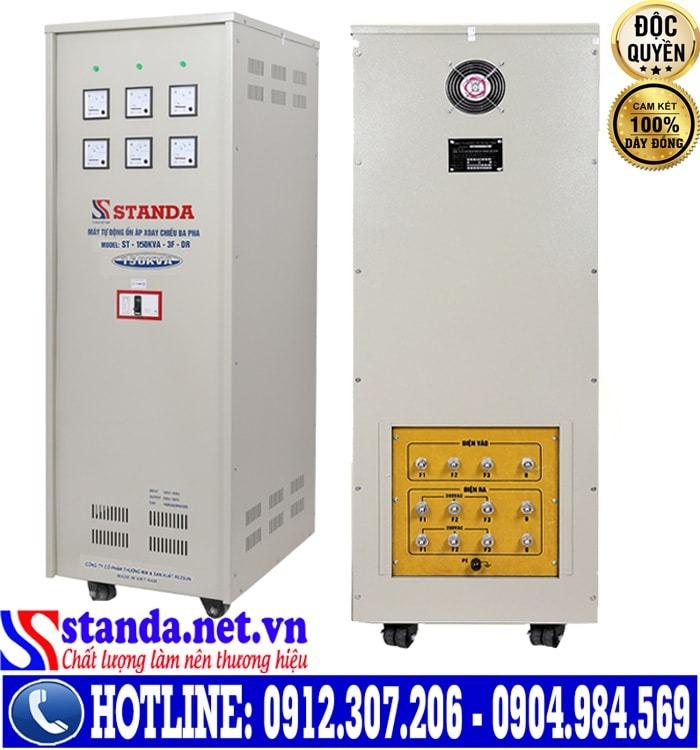 Cách nhận biết ổn áp 3 pha STANDA dải điện áp 160V-430V 150KVA chính hãng