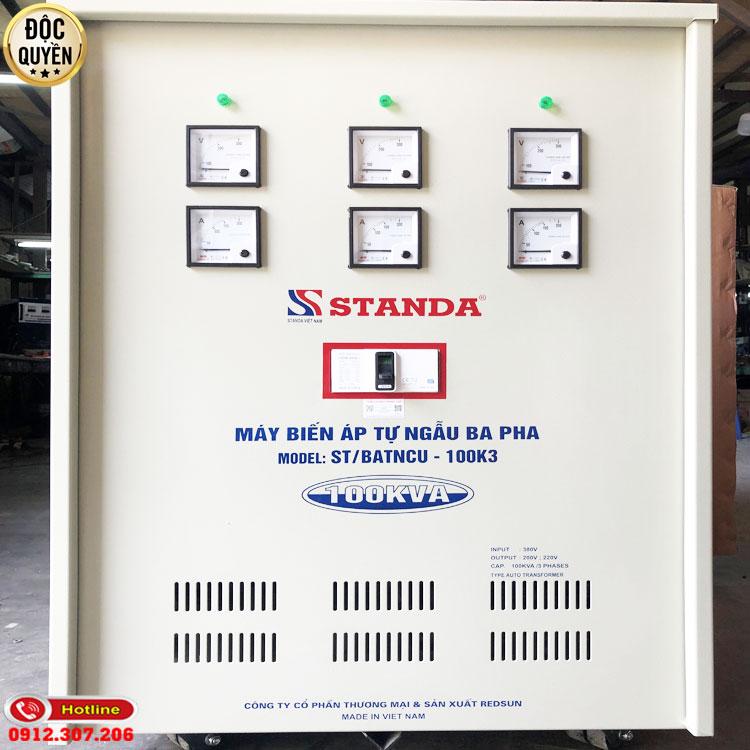 Biến áp tự ngẫu Standa 100KVA chính hãng